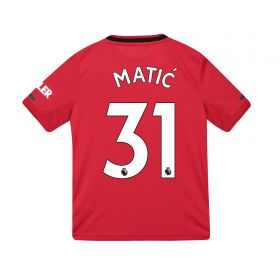 Manchester United Home Shirt 2019 - 20 - Kids with Matic 31 printing