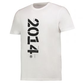 DFB 2014 Stencil T Shirt - White - Mens