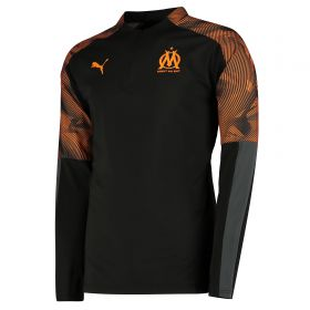 Olympique de Marseille 1/4 Zip Training Top - Black