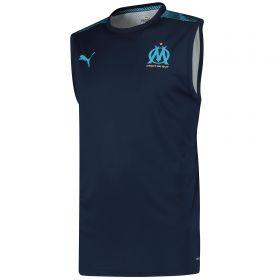 Olympique de Marseille Sleeveless Training Jersey - Dark Blue