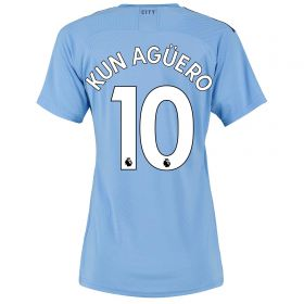 Manchester City Authentic Home Shirt 2019-20 - Womens with Kun Agüero 10 printing