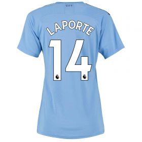 Manchester City Authentic Home Shirt 2019-20 - Womens with Laporte 14 printing