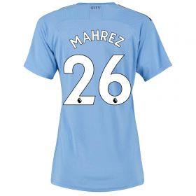 Manchester City Authentic Home Shirt 2019-20 - Womens with Mahrez 26 printing