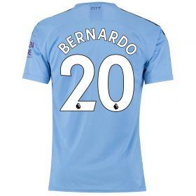 Manchester City Authentic Home Shirt 2019-20 with Bernardo 20 printing