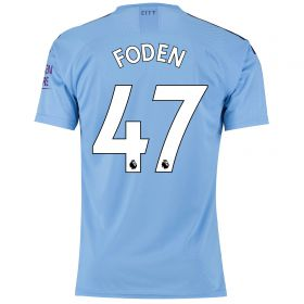 Manchester City Authentic Home Shirt 2019-20 with Foden 47 printing