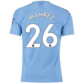 Manchester City Authentic Home Shirt 2019-20 with Mahrez 26 printing