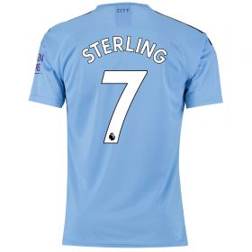 Manchester City Authentic Home Shirt 2019-20 with Sterling 7 printing