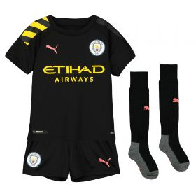 Manchester City Away Mini Kit 2019-20 with Foden 47 printing