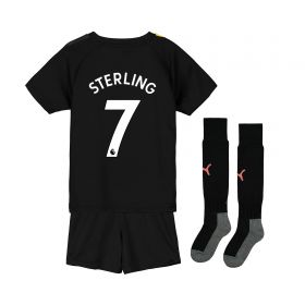 Manchester City Away Mini Kit 2019-20 with Sterling 7 printing