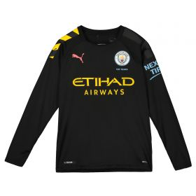 Manchester City Away Shirt 2019-20 - Long Sleeve - Kids with Foden 47 printing