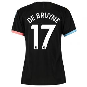 Manchester City Away Shirt 2019-20 - Womens with De Bruyne 17 printing