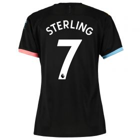 Manchester City Away Shirt 2019-20 - Womens with Sterling 7 printing
