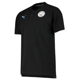 Manchester City Casuals Polo - Black