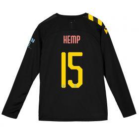 Manchester City Cup Away Shirt 2019-20 - Long Sleeve - Kids with Hemp 15 printing