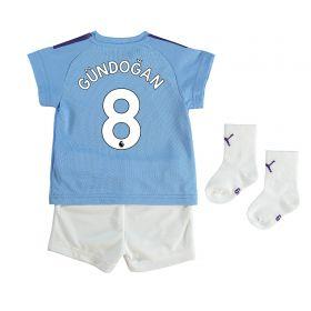 Manchester City Home Baby Kit 2019-20 with Gündogan 8 printing