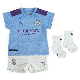 Manchester City Home Baby Kit 2019-20 with Stones 5 printing