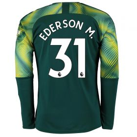 Manchester City Home Goalkeeper Shirt 2019-20 with Ederson M. 31 printing