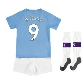 Manchester City Home Mini Kit 2019-20 with G.Jesus 9 printing