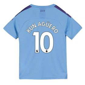 Manchester City Home Shirt 2019-20 - Kids with Kun Agüero 10 printing