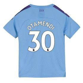 Manchester City Home Shirt 2019-20 - Kids with Otamendi 30 printing