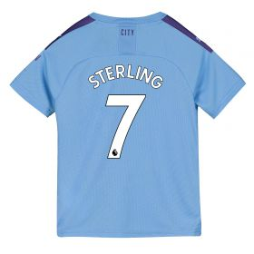 Manchester City Home Shirt 2019-20 - Kids with Sterling 7 printing