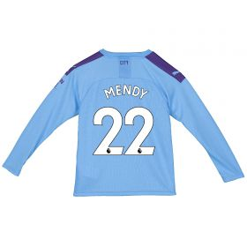 Manchester City Home Shirt 2019-20 - Long Sleeve - Kids with Mendy 22 printing
