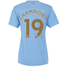 Manchester City Home Shirt 2019-20 - Womens with Champions 19 printing