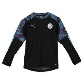 Manchester City Training Rain Top - Black - Kids