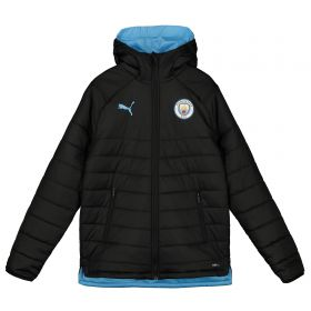 Manchester City Training Reversible Bench Jacket - Black - Kids