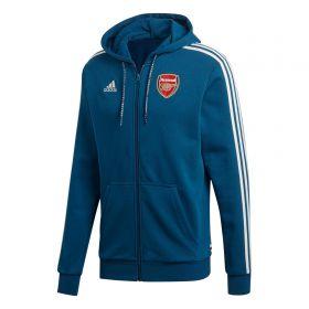 Arsenal Full Zip Hoodie - Navy