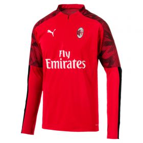 AC Milan 1/4 Zip Training Top - Red