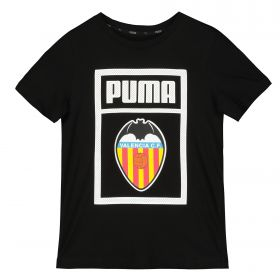 Valencia CF Shoe Tag T-Shirt - Black - Kids