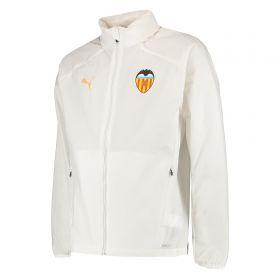 Valencia CF Training Rain Jacket - White