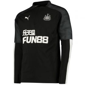 Newcastle United 1/4 Zip Training Top - Black