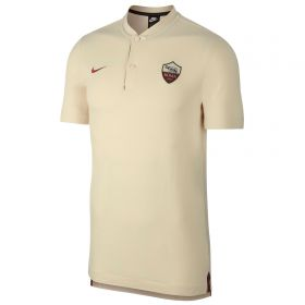 AS Roma Authentic Grand Slam Polo - Cream