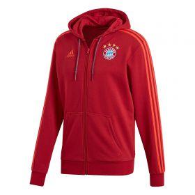 FC Bayern Full Zip Hoodie - Red