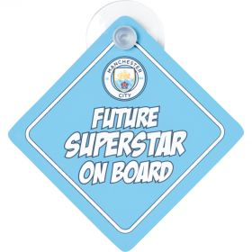 Manchester City Future Superstar on Board Car Hanger