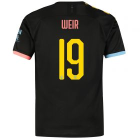 Manchester City Cup Away Shirt 2019-20 with Weir 19 printing