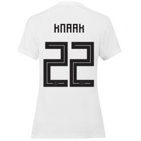 Germany Home Shirt 2019 - Womens with Knaak 22 printing