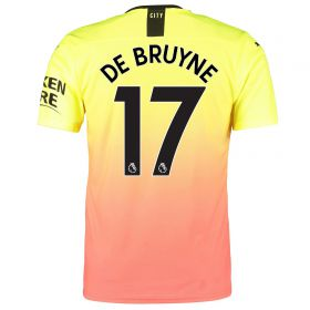 Manchester City Authentic Third Shirt 2019-20 with De Bruyne 17 printing
