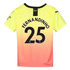 Manchester City Third Shirt 2019-20 - Kids with Fernandinho 25 printing