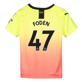 Manchester City Third Shirt 2019-20 - Kids with Foden 47 printing