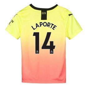 Manchester City Third Shirt 2019-20 - Kids with Laporte 14 printing