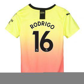 Manchester City Third Shirt 2019-20 - Kids with Rodrigo 16 printing