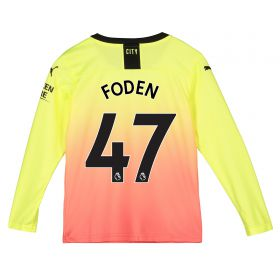 Manchester City Third Shirt 2019-20 - Long Sleeve - Kids with Foden 47 printing