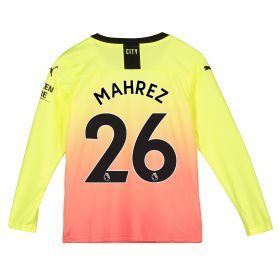 Manchester City Third Shirt 2019-20 - Long Sleeve - Kids with Mahrez 26 printing