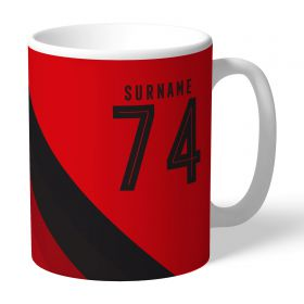 Manchester United Personalised Stripe Mug