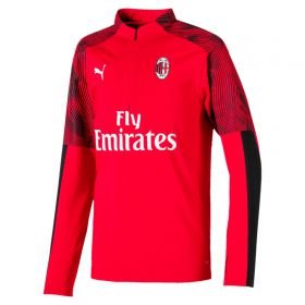 AC Milan 1/4 Zip Training Top - Red - Kids