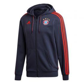 FC Bayern Full Zip Hoodie - Navy