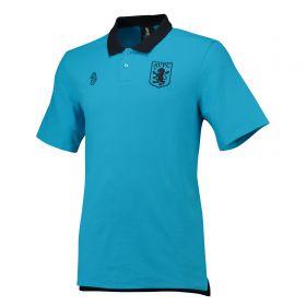 Aston Villa Cotton Team Polo - Blue